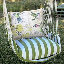 "Hummingbirds Hammock Chair Swing ""Summer Palm"" 