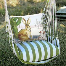 "Jack Rabbit Hammock Chair Swing ""Summer Palm"" 