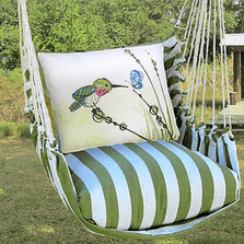 "Hummingbird Hammock Chair Swing ""Summer Palm"" 