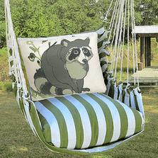 "Raccoon Hammock Chair Swing ""Summer Palm"" | Magnolia Casual | SPRR611-SP-2"