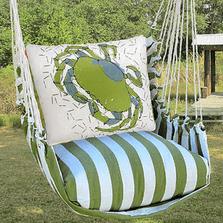 "Crab Hammock Chair Swing ""Summer Palm"" | Magnolia Casual | SPRR618-SP-2"