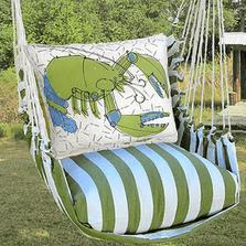 "Lobster Hammock Chair Swing ""Summer Palm"" | Magnolia Casual | SPRR619-SP-2"
