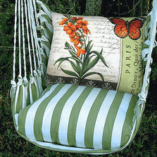 "Butterfly with Snapdragon Hammock Chair Swing ""Summer Palm"" 
