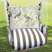 "Chickadee Hammock Chair Swing ""Striped Chocolate"" 