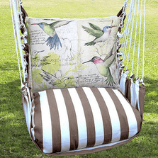 "Hummingbird  Hammock Chair Swing ""Striped Chocolate"" 