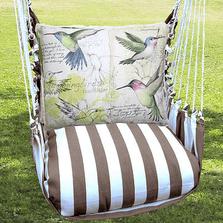 "Hummingbird  Hammock Chair Swing ""Striped Chocolate"" | Magnolia Casual | SCSW704-SP-2"
