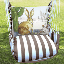 "Jack Rabbit Hammock Chair Swing ""Striped Chocolate"" 