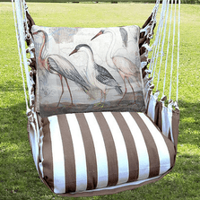 "Crane Hammock Chair Swing ""Striped Chocolate"" 