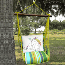 "Unicorn Hammock Chair Swing ""Citrus Stripe"" | Magnolia Casual | CTRR808-SP"