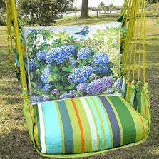 "Hydrangea Hammock Chair Swing ""Citrus Stripe"" | Magnolia Casual | CTTC802-SP-2"