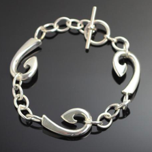 3-Hook Link Sterling Silver Bracelet | Anisa Stewart Jewelry | ASJbp10383L