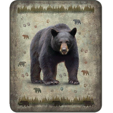 Black Bear Faux-Mink Blanket | DB5434-2