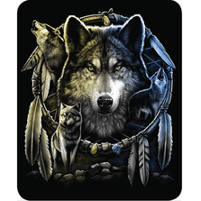 Wolf Mandela Faux-Mink Blanket | DUKDB5212-2