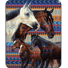 Horse Faux-Mink Blanket | Southwest Horse | DB5322-2