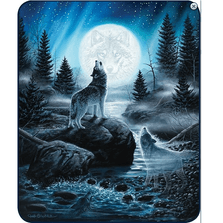 Wolf Faux-Mink Blanket | Spirits of the Wild | DB5452-2