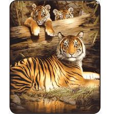 Tiger Faux-Mink Blanket | Quiet Fire | DB5268-2