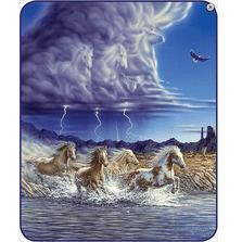 Horse Faux-Mink Blanket | Thundering Hooves | DB5451-2