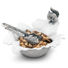 Leaf Bowl with Pewter Squirrel | Vagabond House | VHCS309S