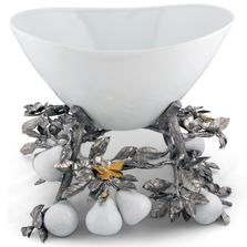 Leaves and Pears Centerpiece Bowl | Vagabond House | VHCG375PP -2