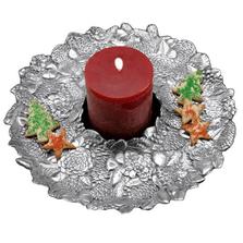 Pinecone Wreath Round Tray | Arthur Court | 103344