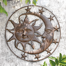 "Sun and Moon Wall Plaque ""Celestial Splendor"" 