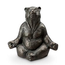 Contented Yoga Bear Garden Sculpture   SPI Home   51051