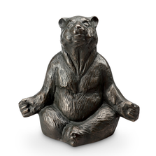Contented Yoga Bear Garden Sculpture | SPI Home | 51051