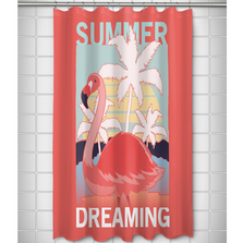 Flamingo Shower Curtain | Summer Dreaming | Island Girl Home | SC847