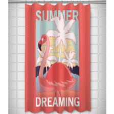 Flamingo Shower Curtain | Summer Dreaming | Island Girl Home | SC847
