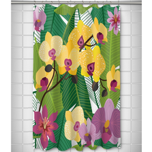 Orchid Garden Shower Curtain | Island Girl Home | SC850