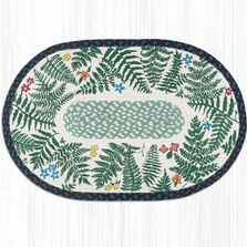 Ferns Oval Patch Braided Rug | Capitol Earth Rugs | OP-238fern