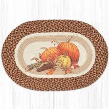 Joyful Harvest Oval Patch Braided Rug | Capitol Earth Rugs | OP-222JH