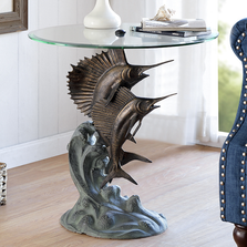 Marlin and Sailfish End Table | 34819 | SPI Home