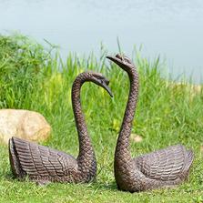 Serene Swans Garden Sculpture Set of 2   SPI Home   51068