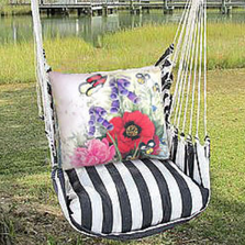 "Snapdragons Hammock Chair Swing ""True Black"" 