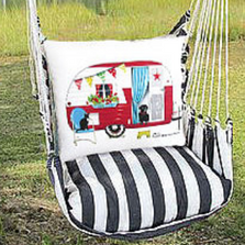 "Retro Camper Hammock Chair Swing ""True Black"" 