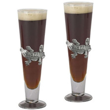 Alligator Pilsner Glass Set of 2 | Arthur Court Designs | ACD121048