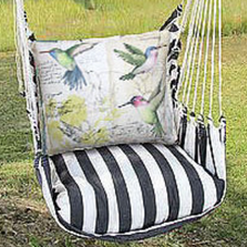 "Hummingbirds Hammock Chair Swing ""True Black"" 