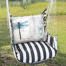 "Dragonfly Hammock Chair Swing ""True Black"" 
