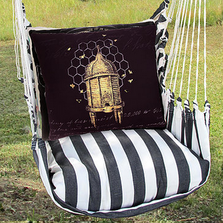 "Honey Bee Skep Hammock Chair Swing ""True Black"" 