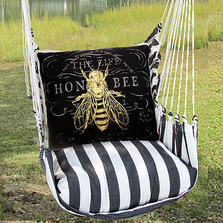 "Honey Bee Hammock Chair Swing ""True Black"" 