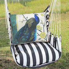 "Peacock Hammock Chair Swing ""True Black"" | Magnolia Casual | TBSN606-SP-2"