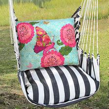 "Butterfly Hammock Chair Swing ""True Black"" 