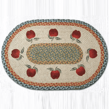 Apples Oval Patch Braided Rug | Capitol Earth Rugs | OP-042APP