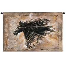 "Horse Tapestry Wall Hanging ""Black Beauty"" 