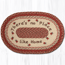 Ladybug Oval Patch Braided Rug | Capitol Earth Rugs | OP-012