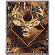 Deer in Camo Tapestry Throw Blanket| Pure Country | pc7212T