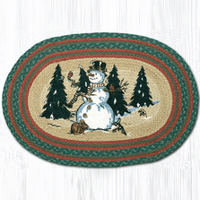 Winter Wonderland Oval Patch Braided Rug | Capitol Earth Rugs | OP-246