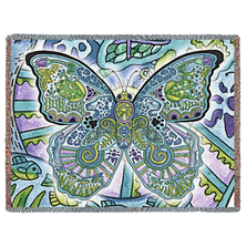 Blue Morpho Butterfly Tapestry Throw Blanket | Pure Country | pc8044T