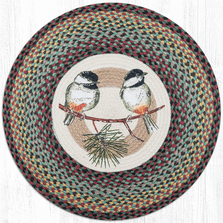 Chickadee Round Patch Braided Rug | Capitol Earth Rugs | CERRP-081C
